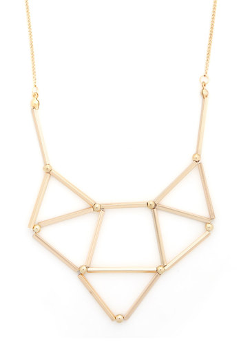 Shape, Dazzle, and Roll Necklace