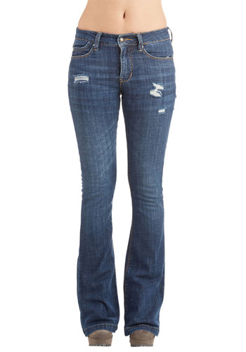 Firepit Orchestra Jeans - Flare / Bell Bottom, Denim, Better, Mid-Rise, Full length, Blue, Medium Wash, Denim, Cotton, Woven, Blue, Solid, Pockets, Casual