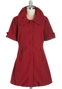 The Amour You Know Coat in Ruby