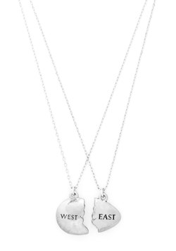 Gatsby's Green Light Special Necklace Set in Silver