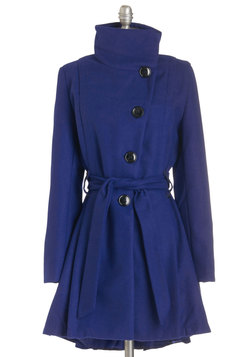 Winterberry Tart Coat in Blueberry