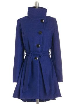 Winterberry Tart Coat in Blueberry