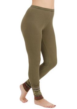 Camping Accoutrement Leggings in Olive