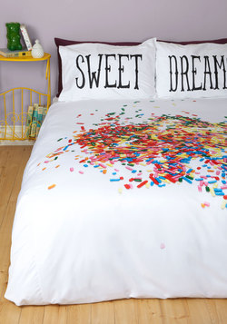 A Snooze-ful of Sugar Duvet Cover in Full/Queen