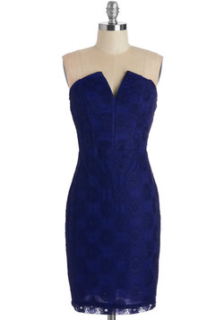 Call It a Date Night Dress in Cobalt