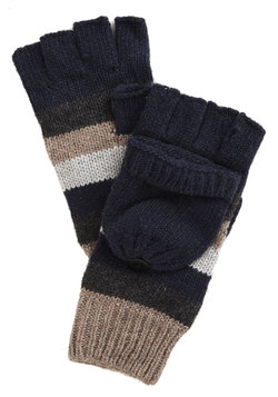 Hearth to Heart Fingerless Gloves in Navy