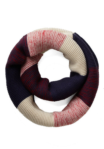 Straight to the Summit Circle Scarf in Red