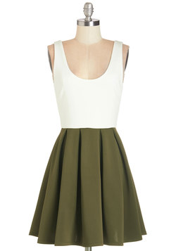 Casually Captivating Dress in Olive