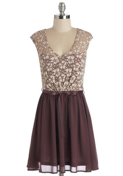 White Haute Cocoa Dress in Plum