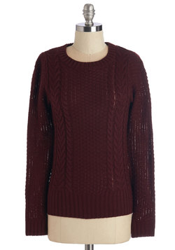Well Begun is Half Spun Sweater in Wine