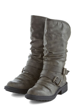 Lining Up Boot in Silver Grey