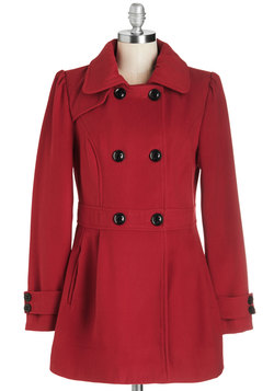 You Can Say Chat Again Coat in Red