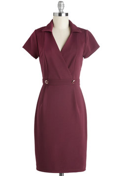 Sophisticated Situation Dress in Merlot