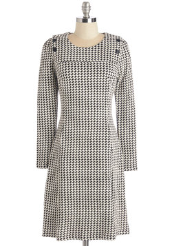 Merry-Go-Houndstooth Dress