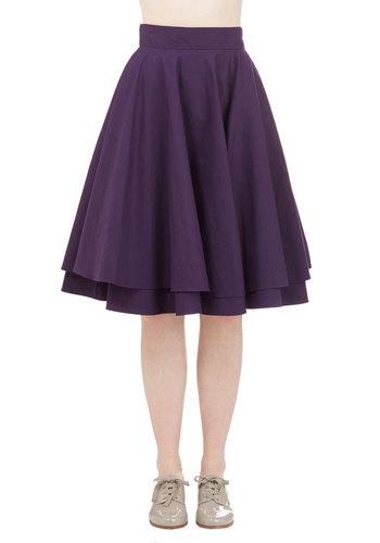 Essential Elegance Skirt in Purple