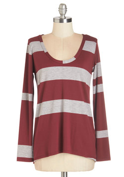 Striped Simplicity Top in Red