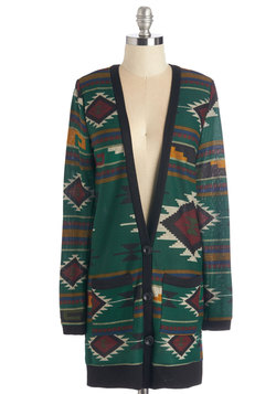 Yearn for Yerba Mate Cardigan