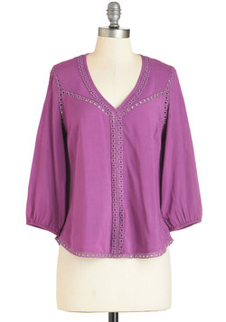 Cool, Calm, and Calligraphy Top in Orchid