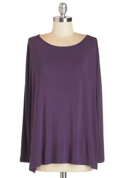 Simplicity Under the Sunrise Top in Purple