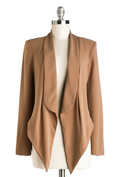 Boardroom Radiance Blazer in Mocha