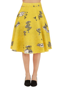 Charming by Nature Skirt in Goldenrod