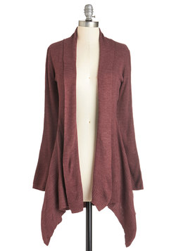 Oh Mellow Again Cardigan in Rosewood