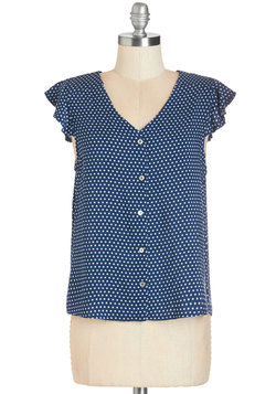 Door to Adorable Top in Navy