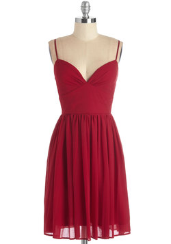 Looking Red Haute Dress in Rouge