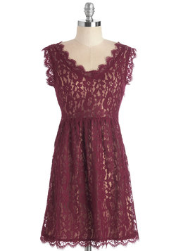 Going to the Château Dress in Burgundy