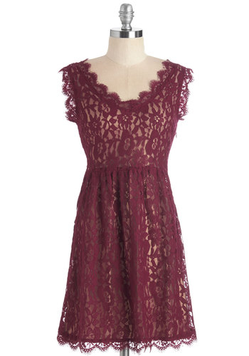 Going to the Ch�teau Dress in Burgundy