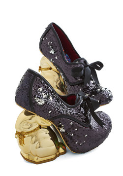 Look Who's Hare Heel in Black Sequins