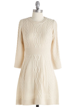 Familiar Flavor Dress in Vanilla