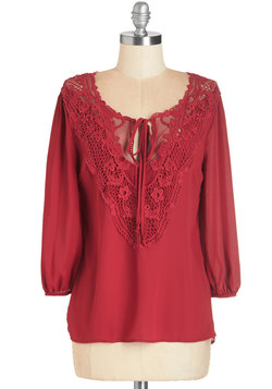 Lifelong Romantic Top in Ruby