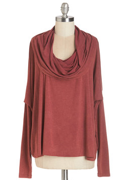 At Your Beck and Cowl Top in Red
