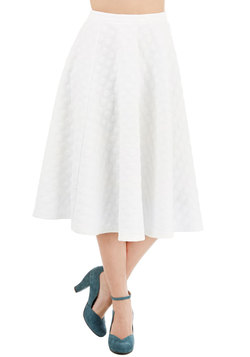 Bubble Whammy Skirt in Ivory