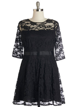 Make a Case for Lace Dress in Black - Plus Size