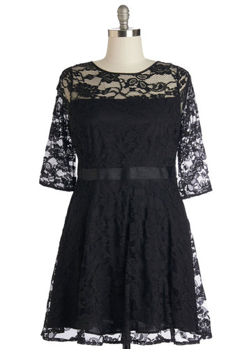 Make a Case for Lace Dress in Black