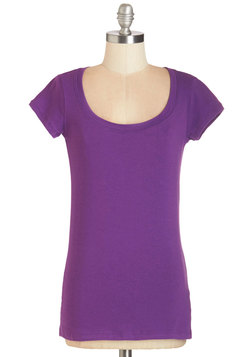 What's the Scoop Neck Tee in Orchid
