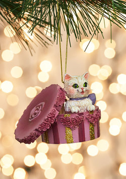 The Cat in the Hatbox Ornament
