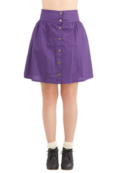 Curry Your Enthusiasm Skirt in Grape