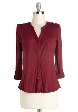 Mellow Hello Top in Burgundy