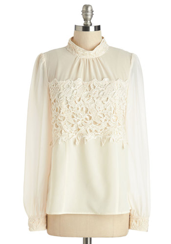 That's More Ladylike It Top in Ivory