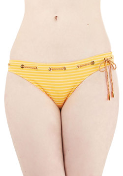 Cruise Line is it Anyway? Swimsuit Bottom in Yellow
