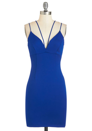 Strappier Than Ever Dress in Sapphire