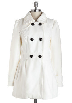 You Can Say Chat Again Coat in White