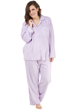 That's Great Snooze Pajamas in Dots - Plus Size