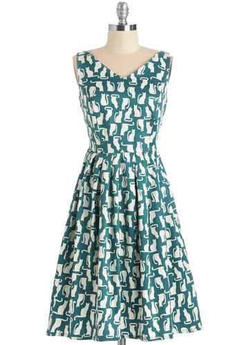 Perpetual Charm Dress in Cats