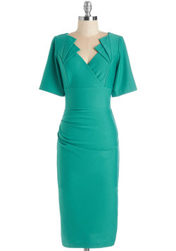 Daring in Deco Dress in Aqua