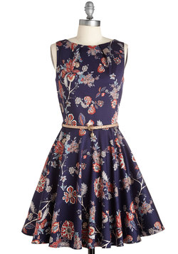 Luck Be a Lady Dress in Boho
