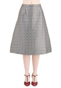 Silver Screen Sheen Skirt